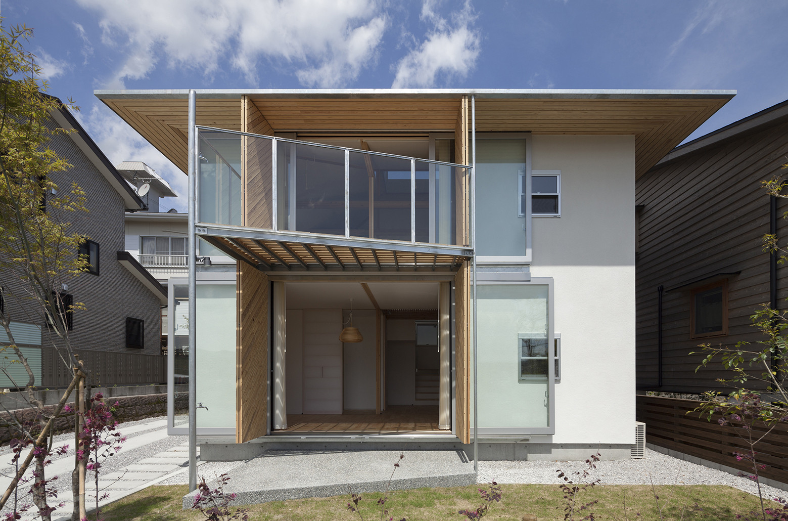 Gallery of hybrid wooden house architecture studio nolla 7 for Architecture hybride