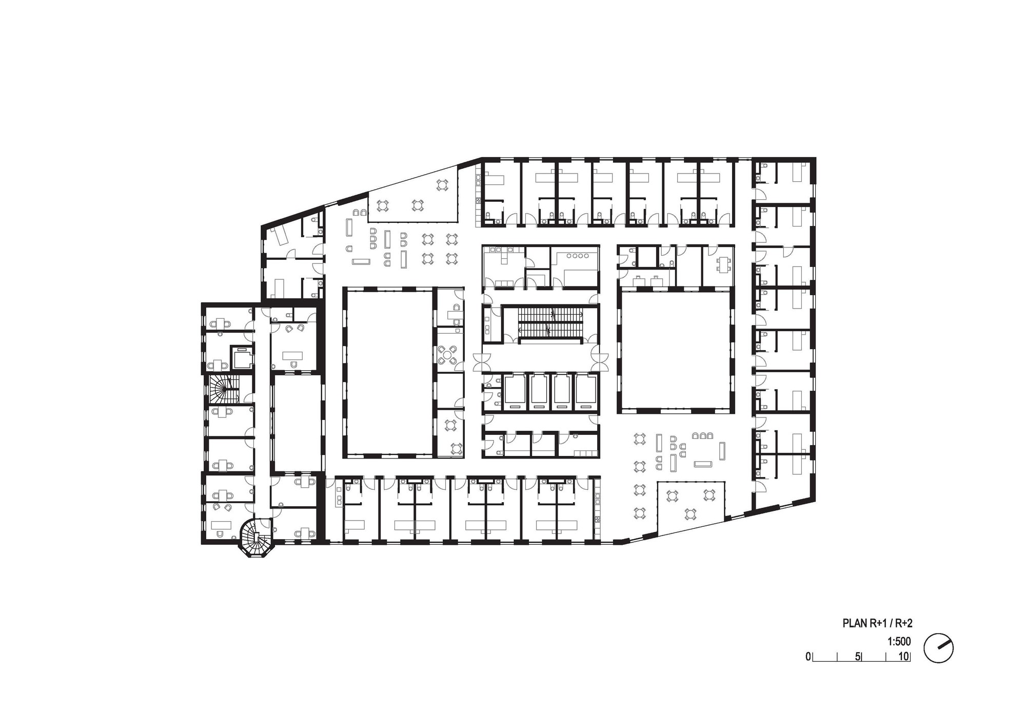 Elderly Residential Home Floor Plan