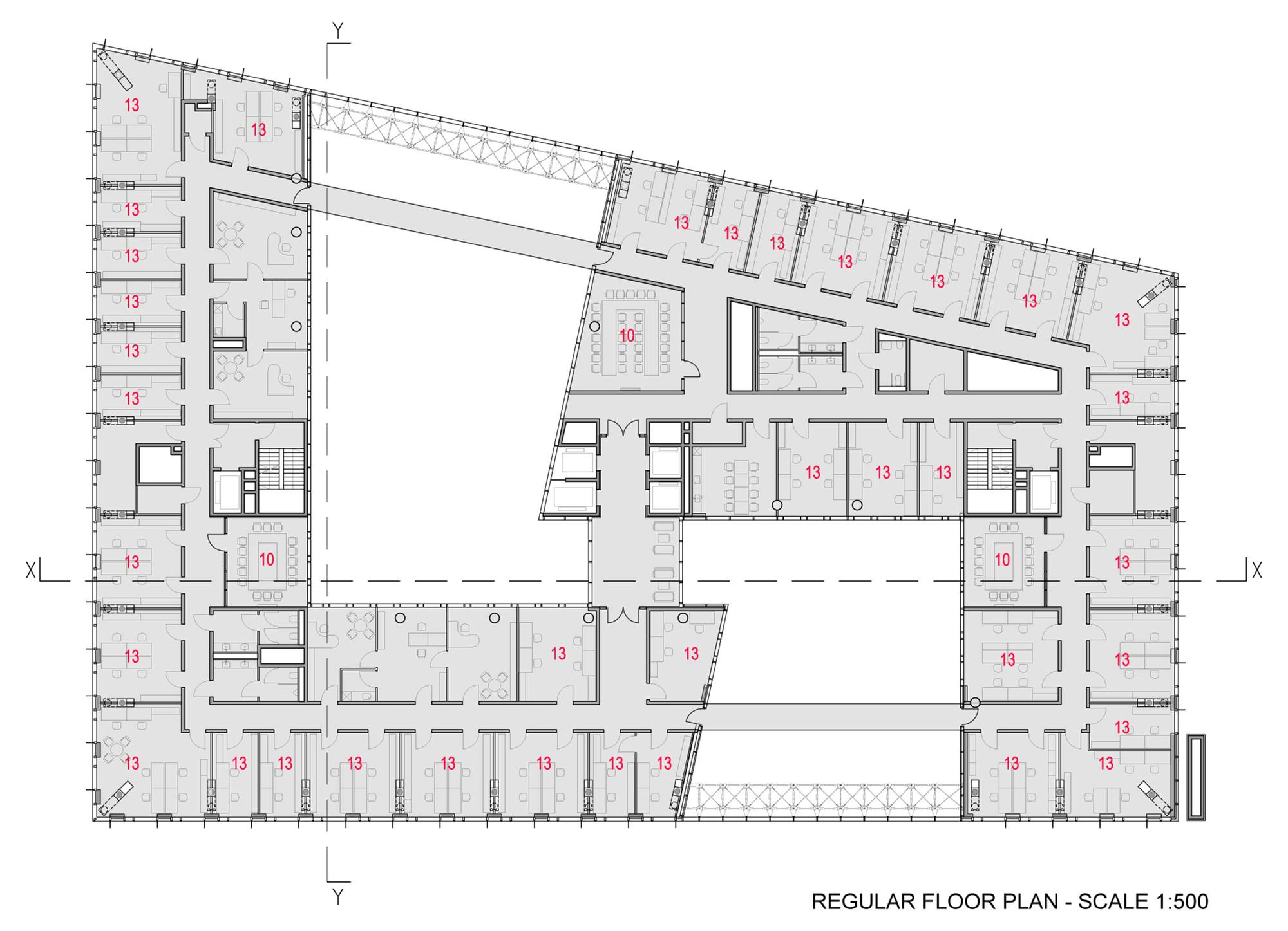 Gallery of marshal s hq wapa warsztat architektury 19 for 10 shelford floor plan