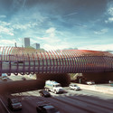 "Finalist B: ""(SIN)UOSITY"" at Midtown's 10th Street Bridge . Image Courtesy of Atlanta Bridgescape Competition"