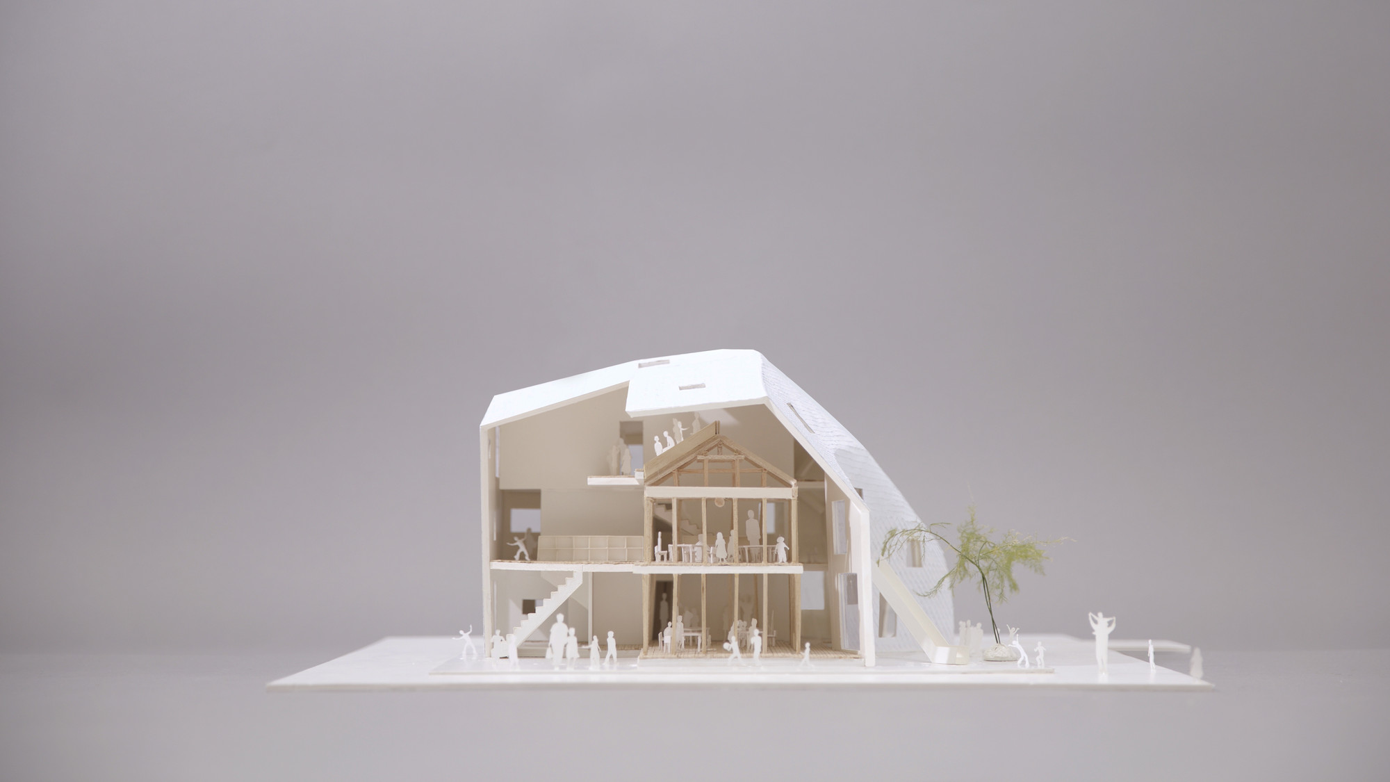Clover House Model Section