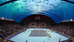 8+8 Concept Studio Proposes Underwater Tennis Court in Dubai