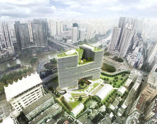 Aerial view. Image Courtesy of LYCS Architecture