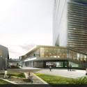Landscape plaza view. Image Courtesy of LYCS Architecture