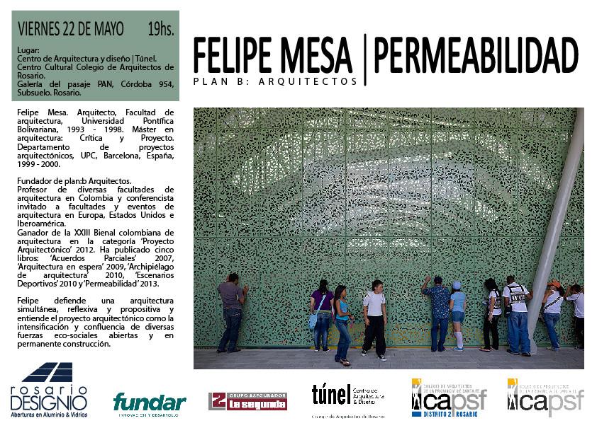 Permeabilidad: conferencia de Felipe Mesa en Rosario