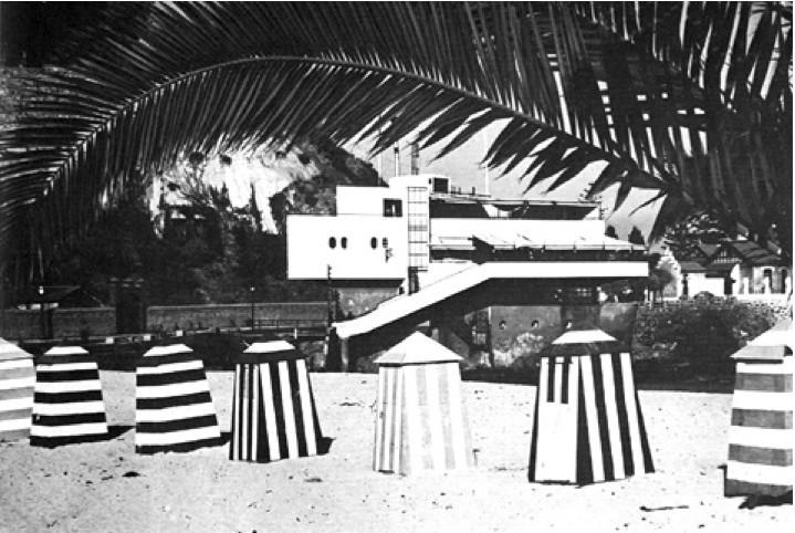 El edificio del Cap Ducal, 1938. Image vía Revista de Arquitectura