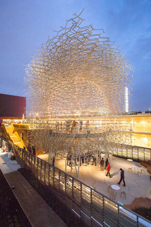 Pabellón del Reino Unido – Expo Milán 2015 / Wolfgang Buttress. Imagen © Laurian Ghinitoiu