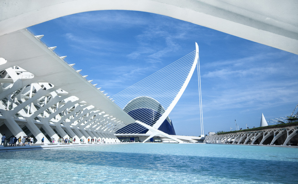 "Santiago Calatrava's City of Arts and Sciences Stars in Disney's ""Tomorrowland"", © Flickr CC User Tim Snell"
