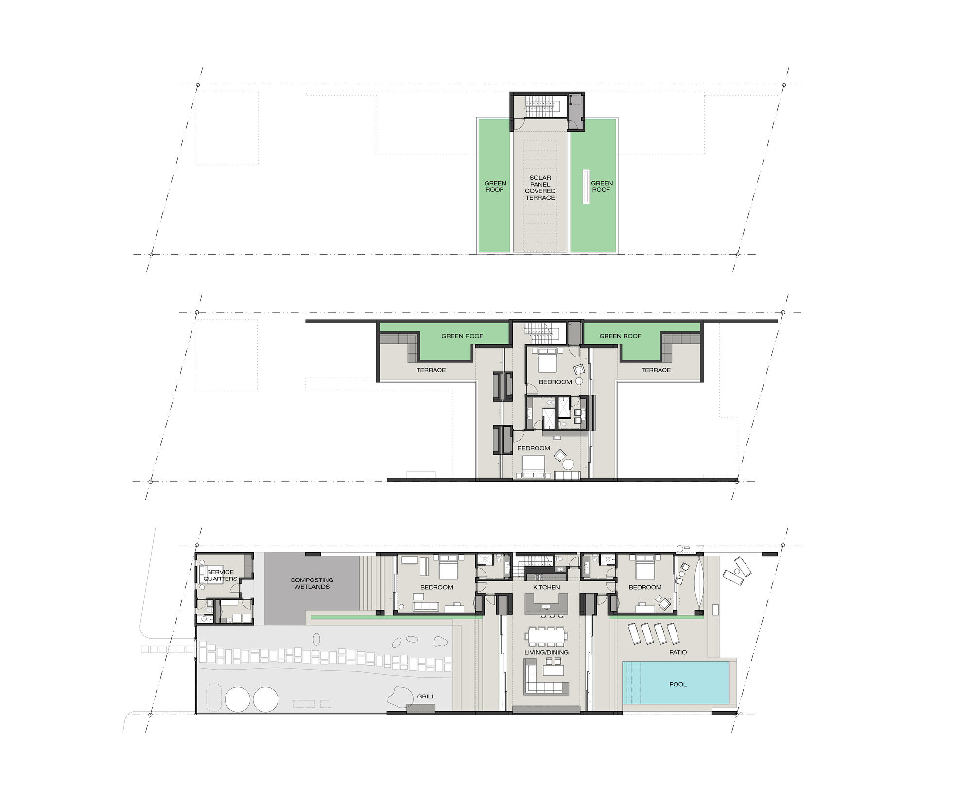 Gallery of casa xixim specht harpman 19 for Eco home floor plans