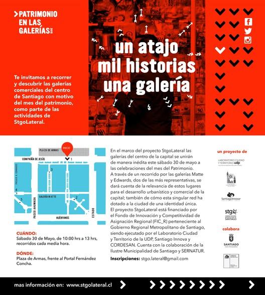 Día del Patrimonio 2015: 'Un atajo, una galería, mil historias' / Santiago, Chile