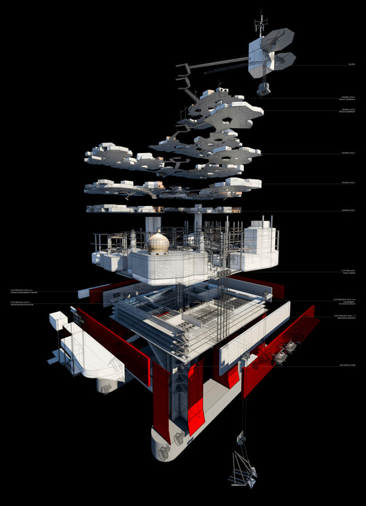 An exploded view of the structure. Image © Mayank Thammalla