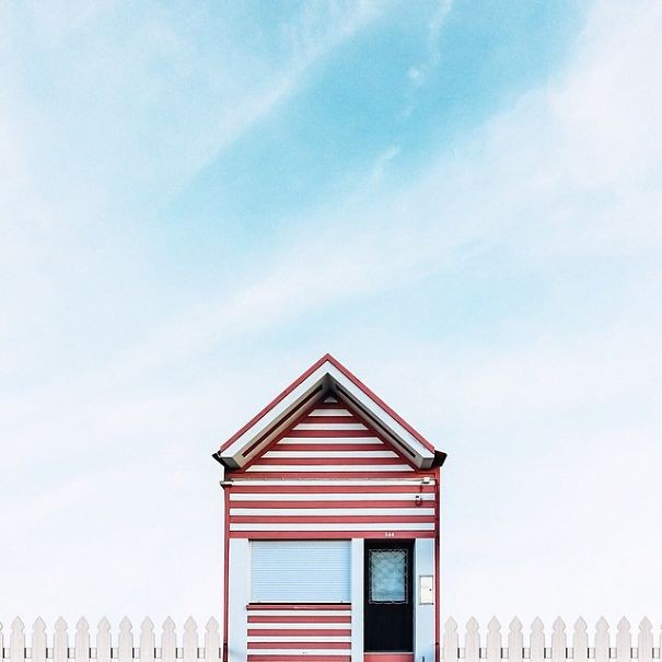 Gallery of lonely houses sejkko s surreal photos of for Minimalist traditional house