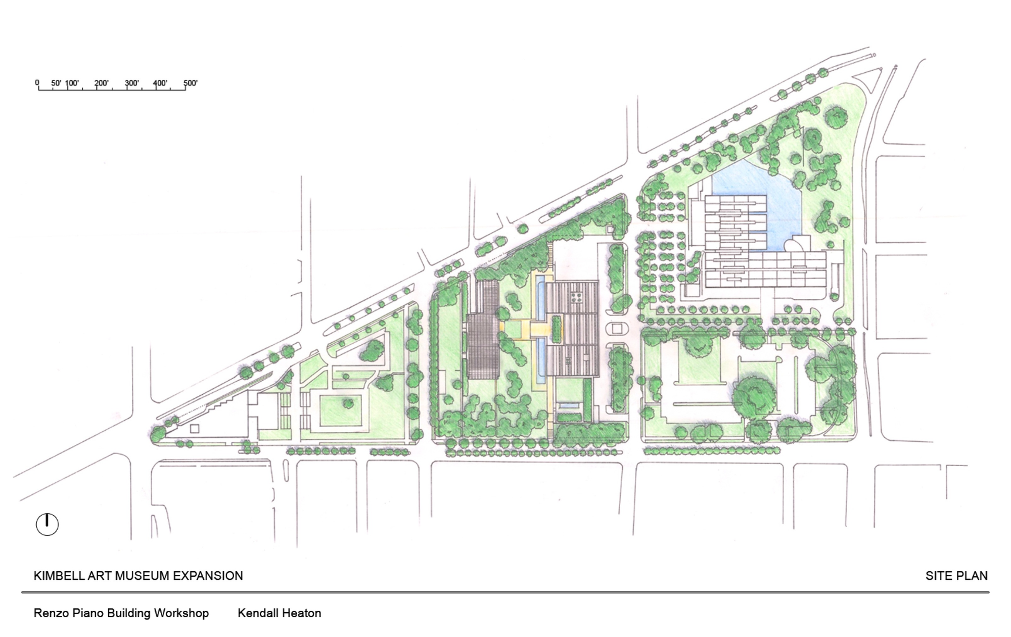 Seeming inevitability reconsidering renzo piano s for Site plan dimensions