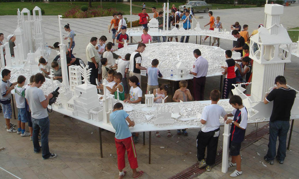 The Collectivity Project on view at the 3rd Tirana Biennale, Albania, in 2005. Photo © Olafur Eliasson. Courtesy the artist; neugerriemschneider, Berlin; and Tanya Bonakdar Gallery, New York. Image via art.thehighline.org