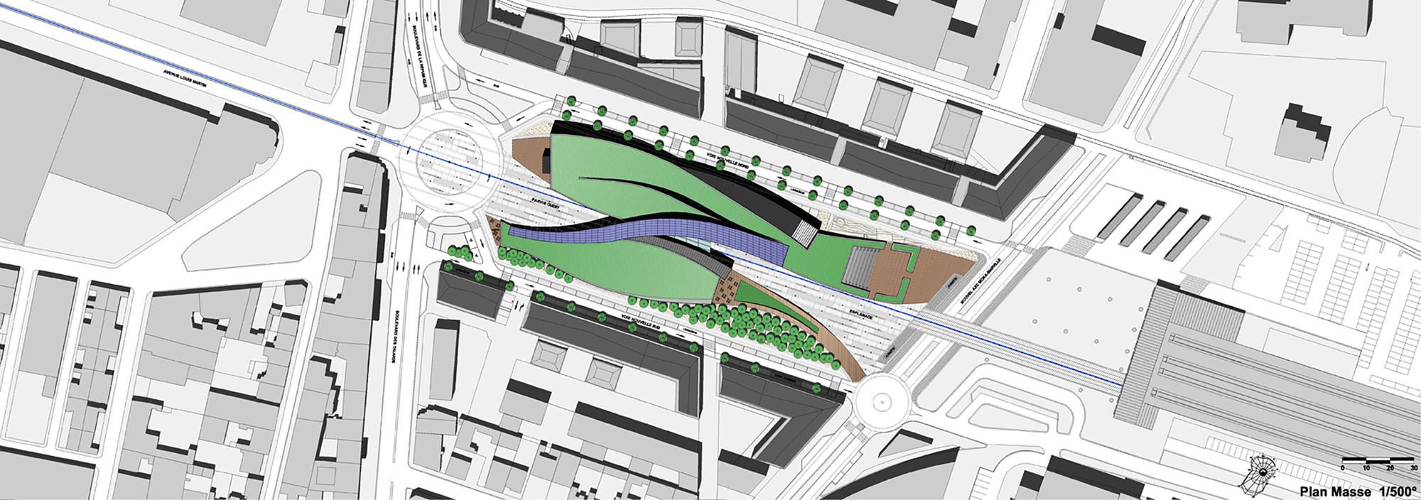 Gallery of la grande passerelle architecture studio 10 for Plan masse architecture