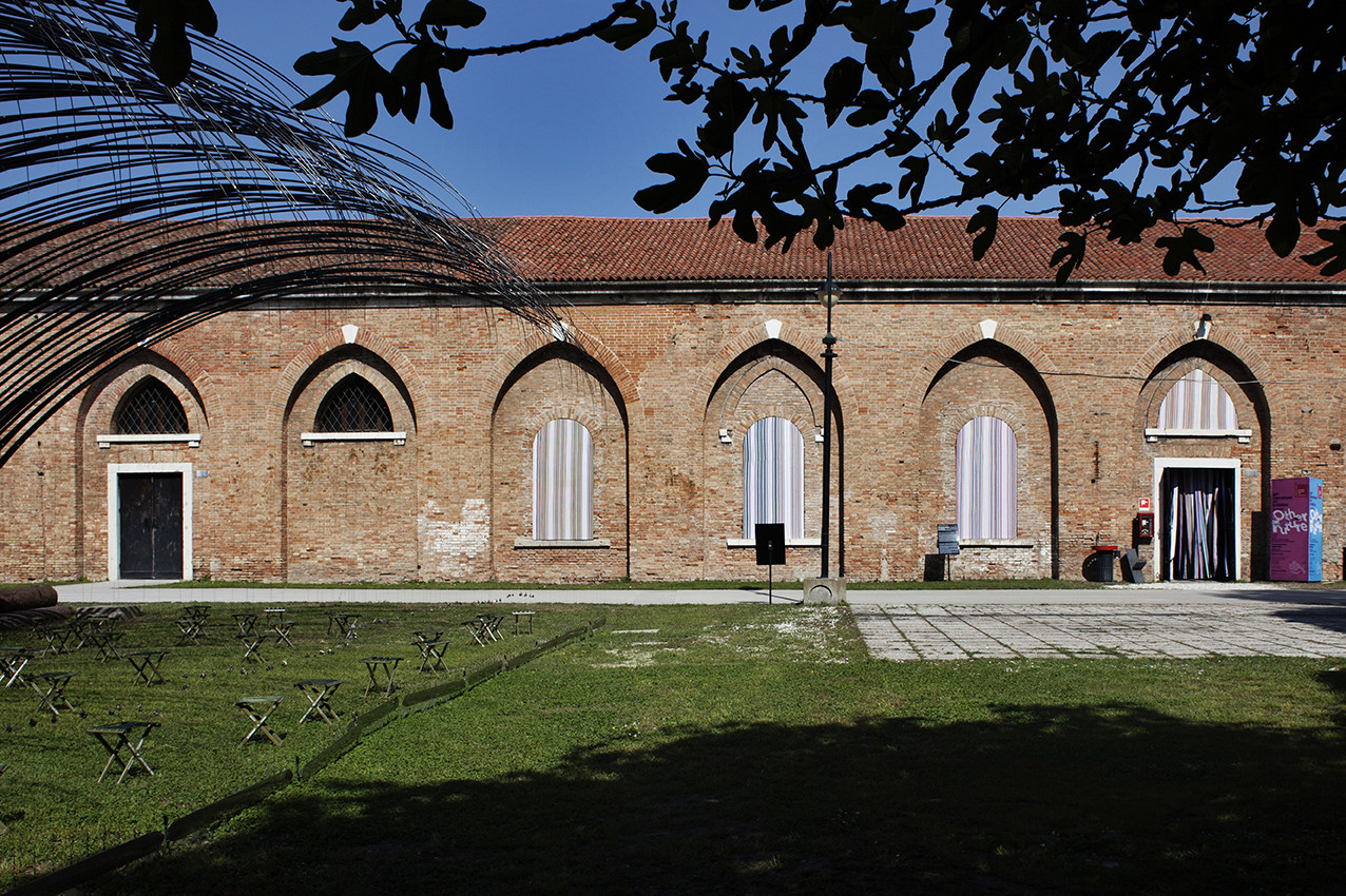 Images Released of OMA-Designed Chinese Pavilion at 2015 Venice Art Biennale, Exterior view, installation by Liu Jiakun. Image © Italo Rondinella courtesy of OMA