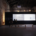 Exhibition interior, video by Wen Hui. Image © Italo Rondinella courtesy of OMA