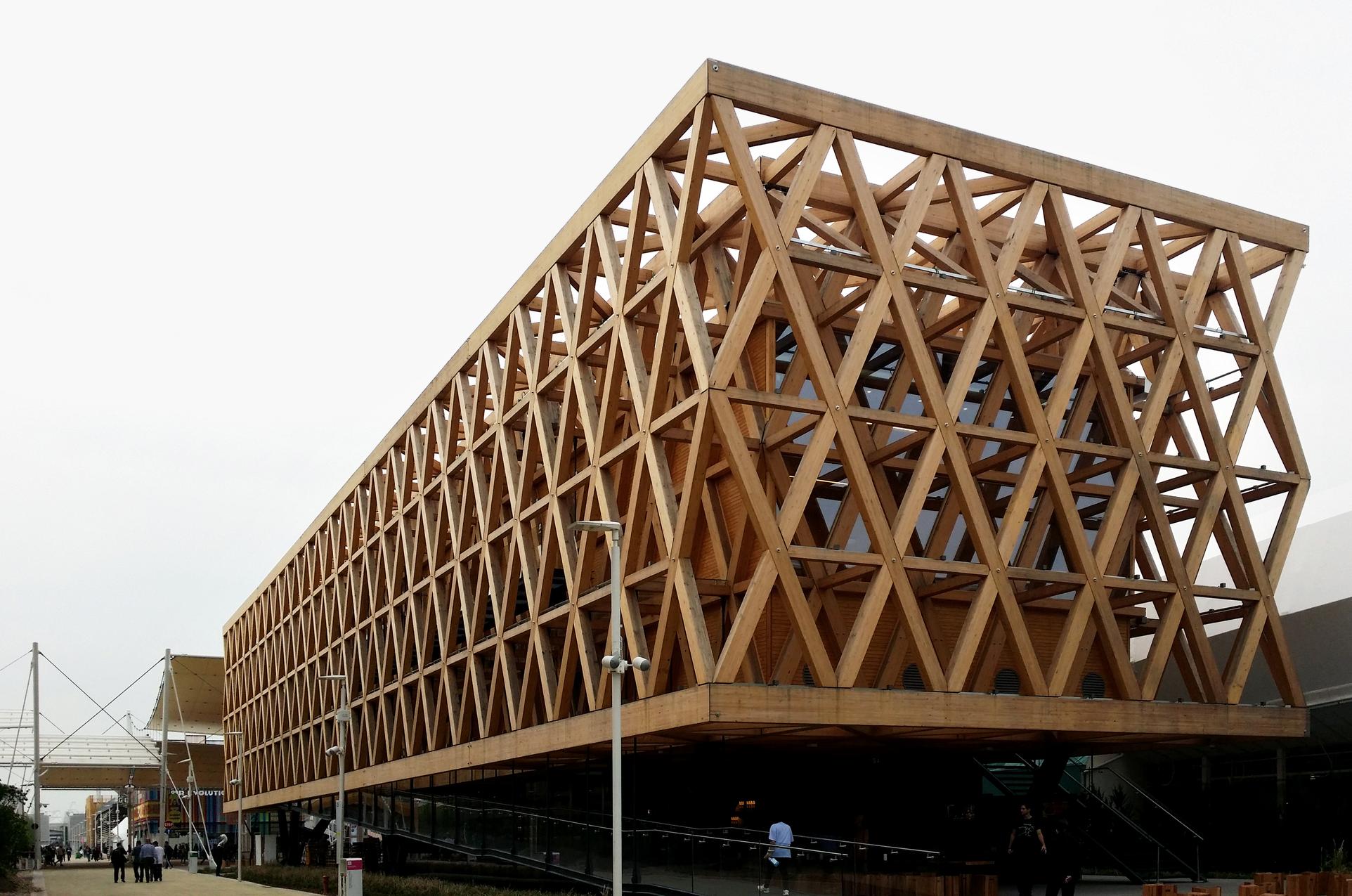 Galer a de materiales madera laminada y su aplicaci n en - Estructura madera laminada ...