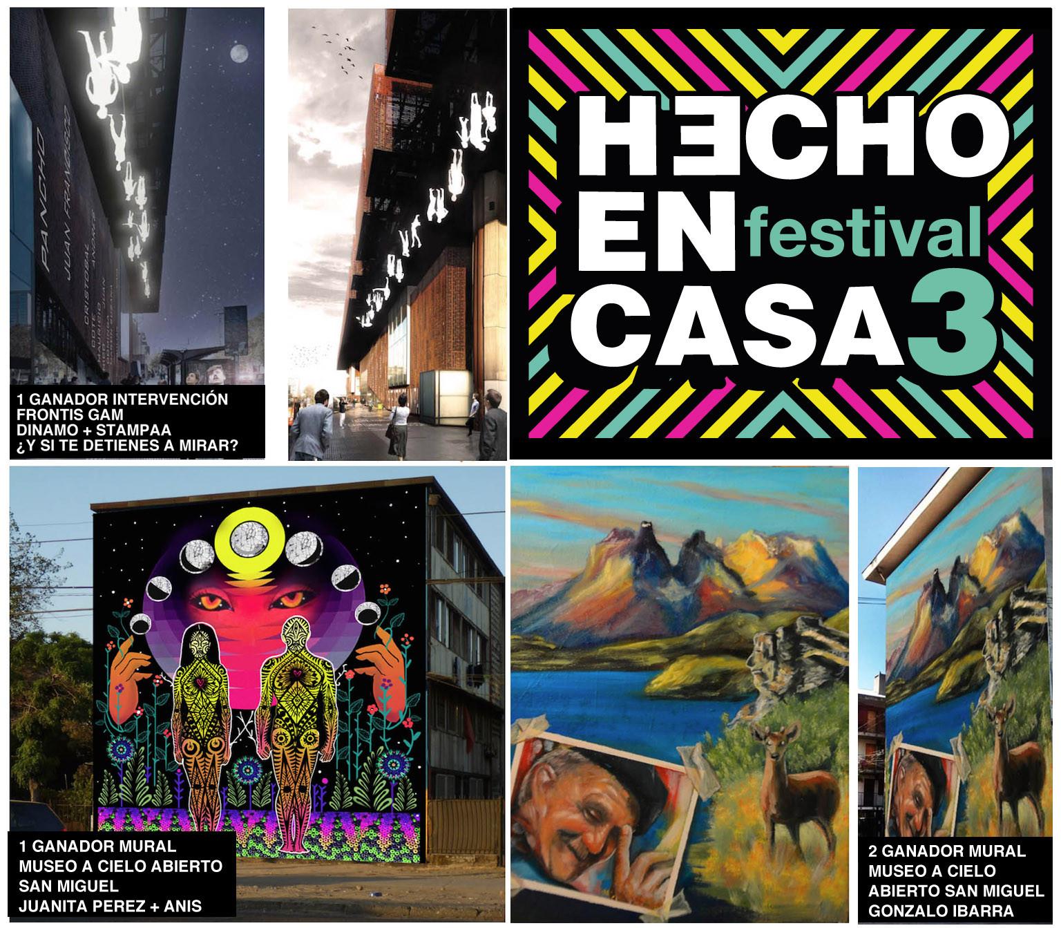 """10 intervenciones urbanas en Santiago en el marco del Festival """"Hecho en Casa"""", Cortesia de Hecho en Casa"""