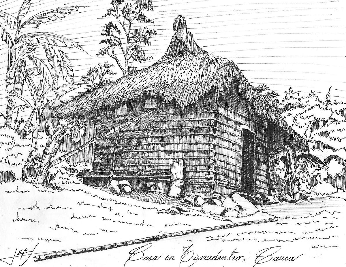 Vivienda en Tierradentro, Cauca. Image © Jorge Eduardo Fernández Saavedra