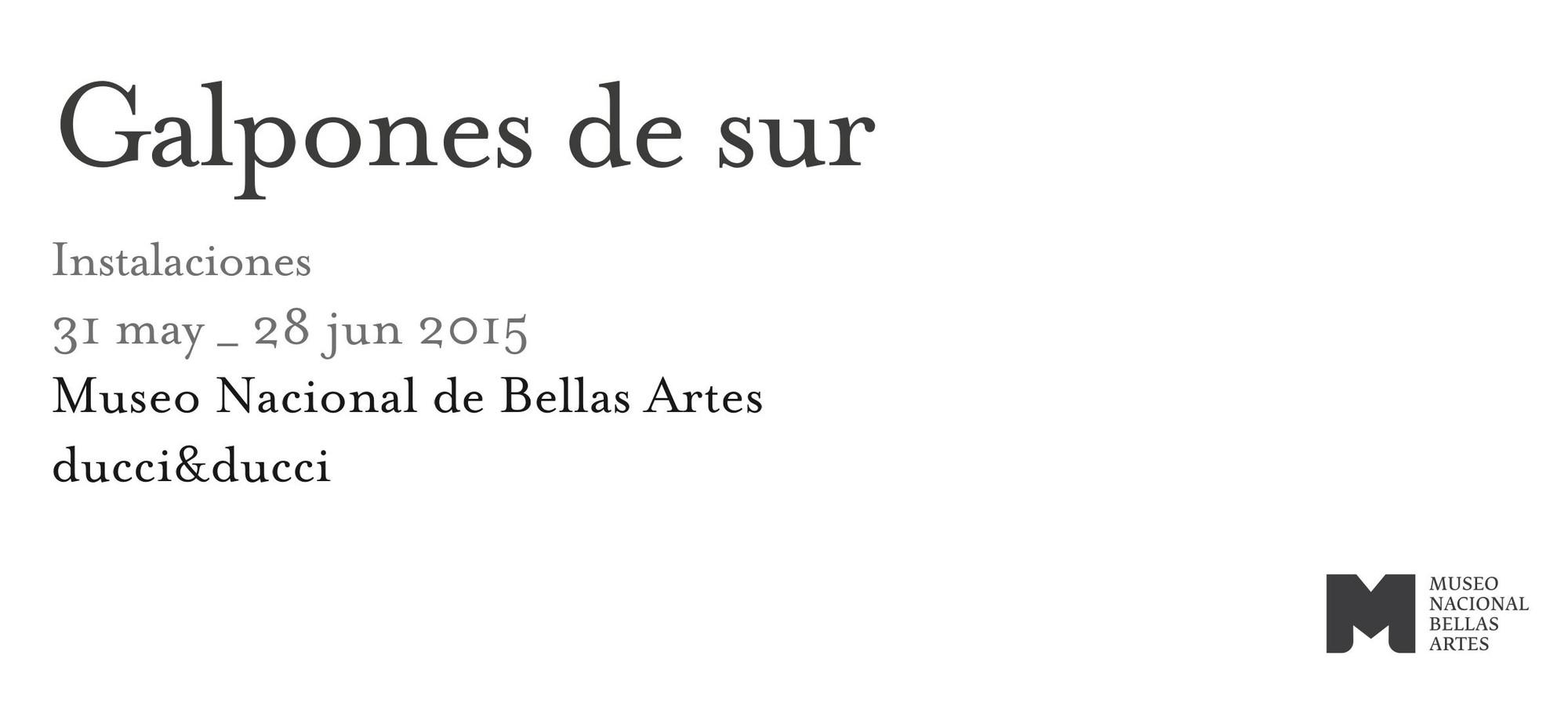 Galpones del Sur / intervención en el Museo de Bellas Artes de Santiago