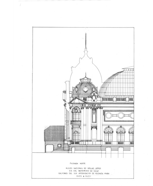 Elevación Lateral. Image Cortesia de Héctor Ducci y Nicolás Ducci