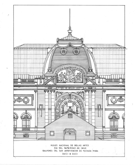 Elevación Principal. Image Cortesia de Héctor Ducci y Nicolás Ducci