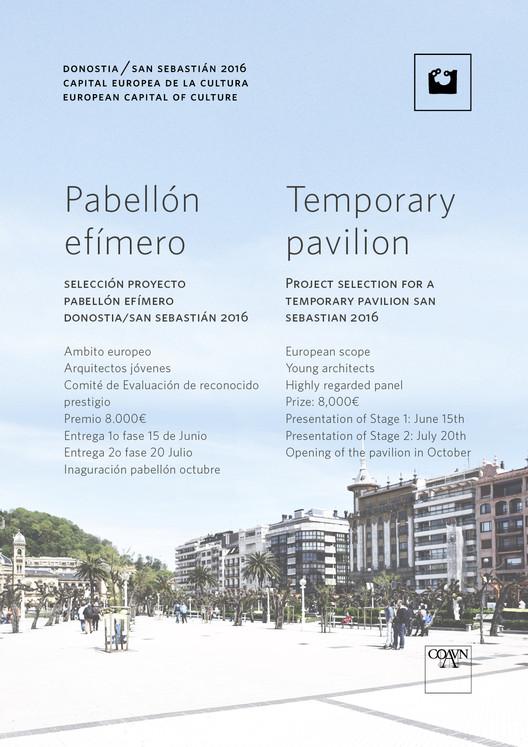 Convocatoria: Pabellón Efímero Donostia/San Sebastián 2016