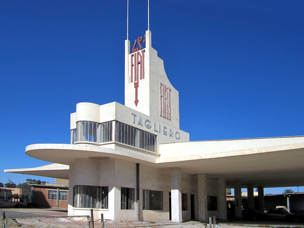 "10 Highlights from Guardian Cities' ""History of Cities in 50 Buildings"", Fiat Tagliero, Asmara. Image © Flickr user David Stanley"