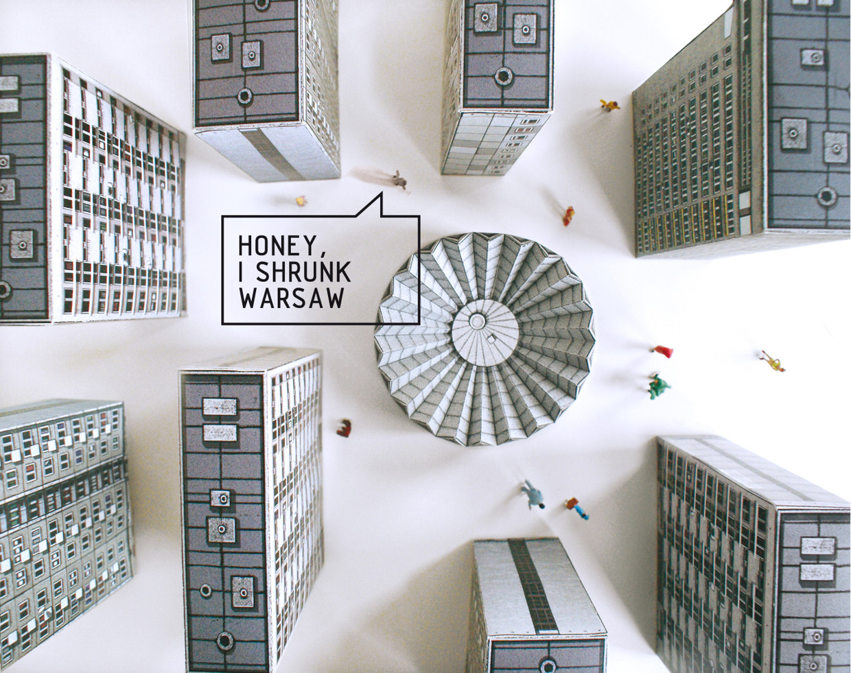 "Zupagrafika's ""Eastern Block"" Series Brings Warsaw to Life in Paper, © Zupagrafika"