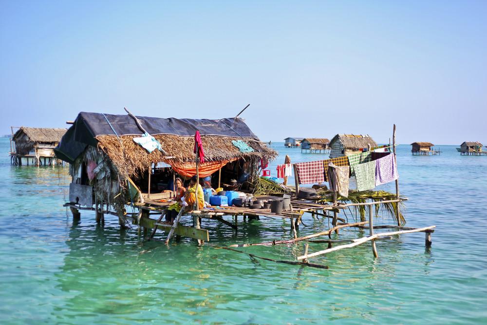 Construcción temporal en el sudeste asiático. Imagen © asnida via Shutterstock