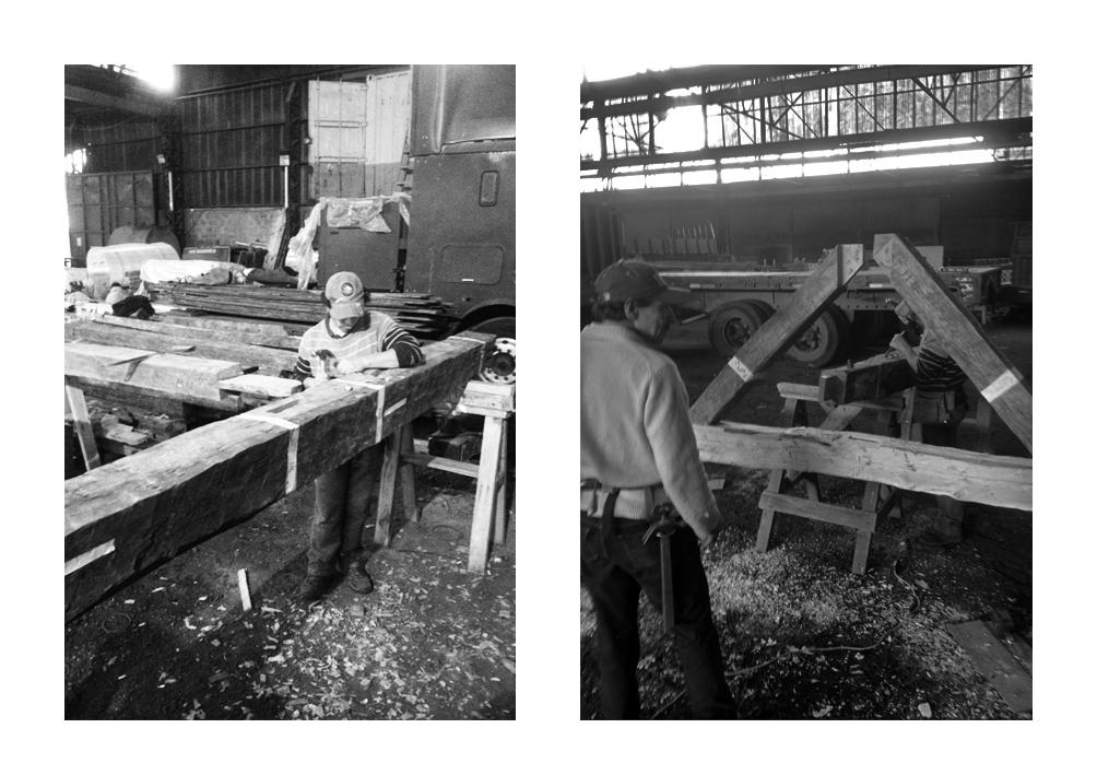 Montaje en talleres de Santiago. Image Cortesia de Héctor Ducci y Nicolás Ducci