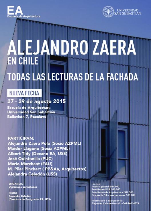 "Seminario ""Todas las Lecturas de la Fachada"" / Alejandro Zaera Polo en la Universidad San Sebastián"