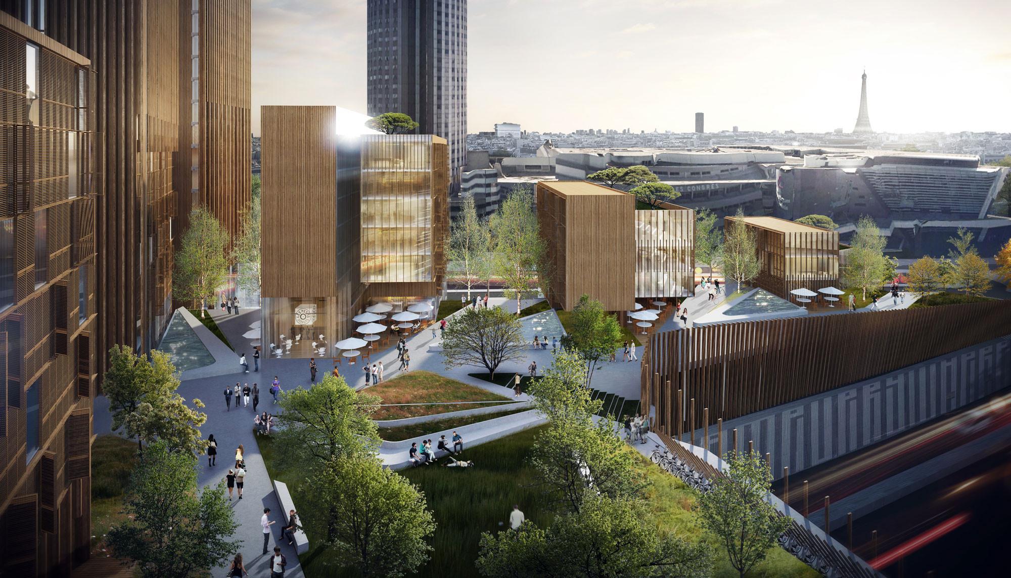MGA propone en París el edificio de madera más alto del mundo, © MGA