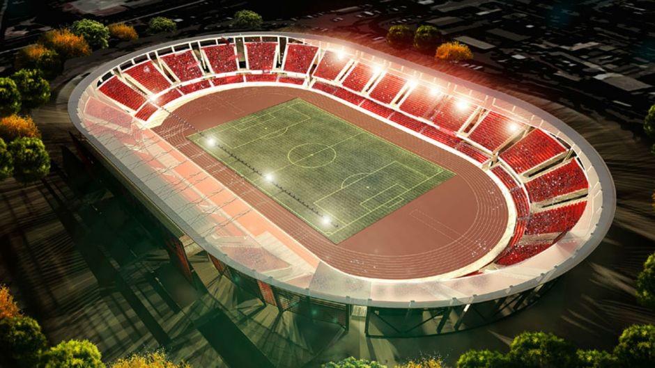 Estadio La Portada de La Serena. Image vía ca2015.com