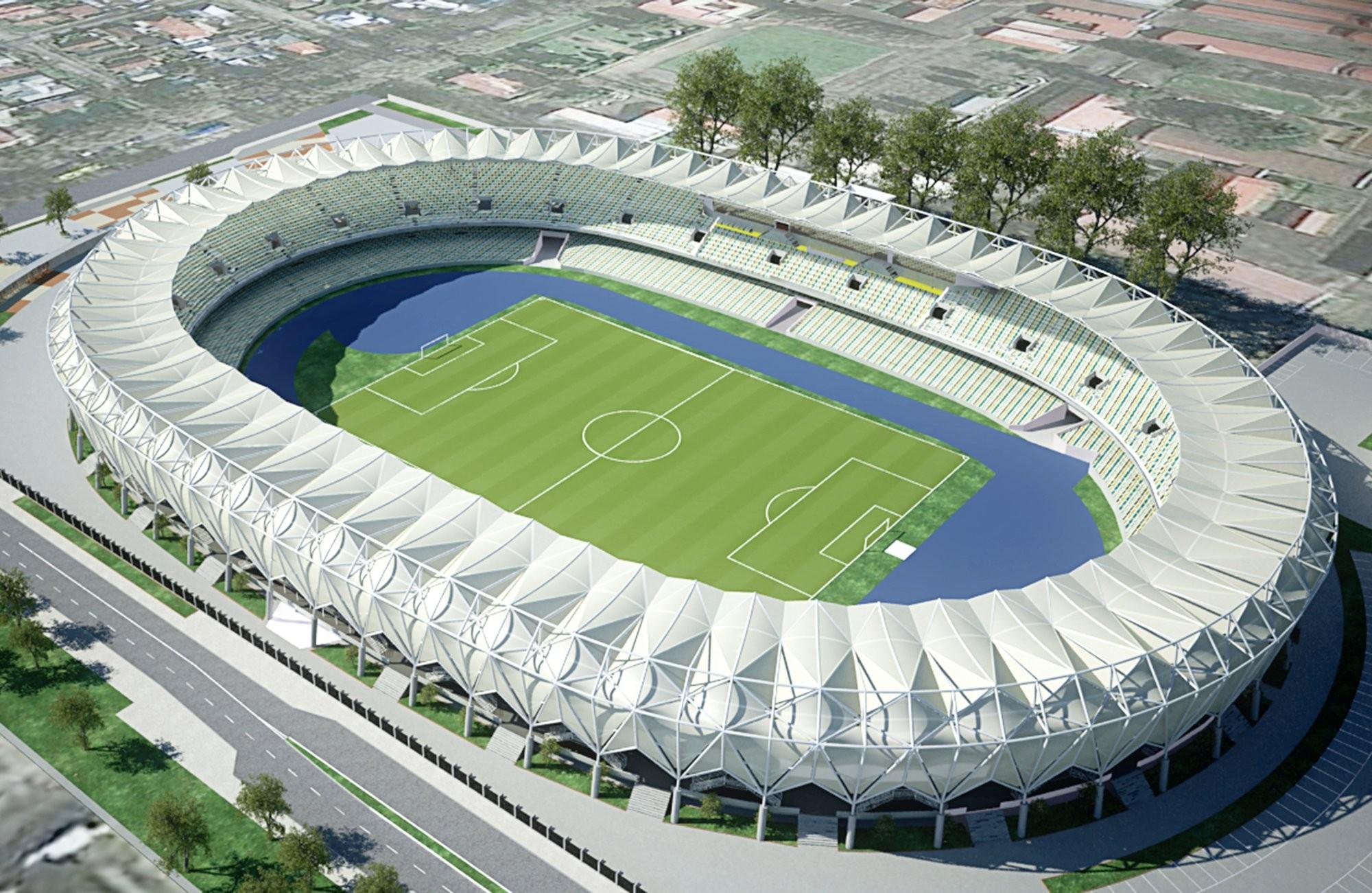 Estadio Ester Roa de Concepción (Proyecto Inicial). Image Cortesia de Instituto Nacional de Deportes