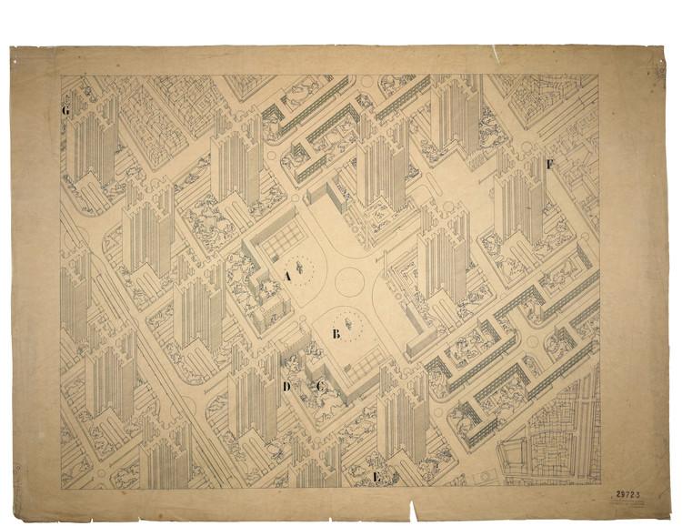 Plan Voisin para París (1925) . Image Cortesía de © FLC/ADAGP