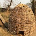 Ethiopia - chicken coop constructed with woven reeds. Image © Abby Morris