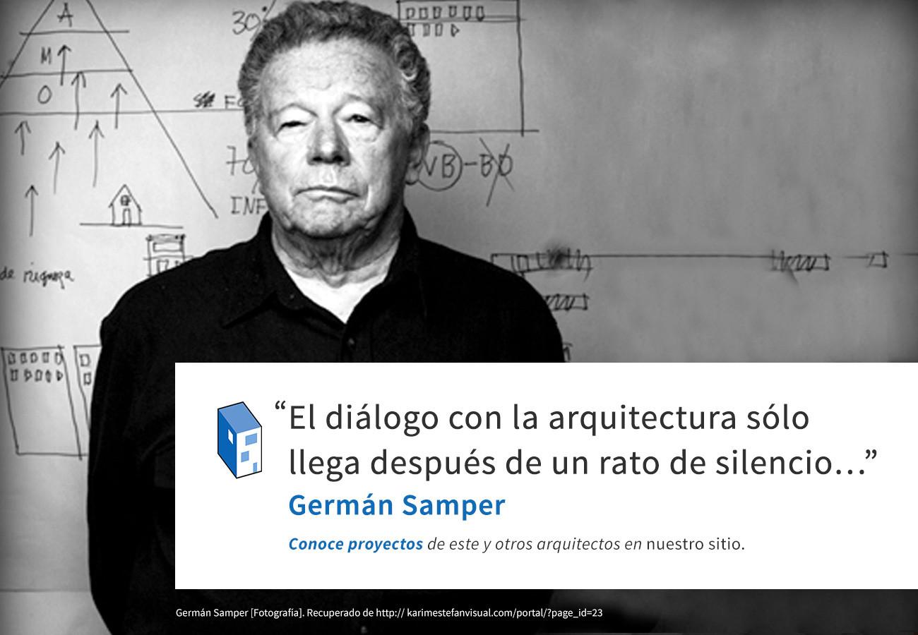 Frases: Germán Samper y el diálogo con la arquitectura