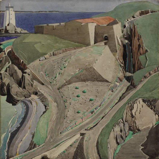 """""""The Fort"""" by Charles Rennie Mackintosh. Image <a href='https://commons.wikimedia.org/wiki/File:Mackintosh,_The_Fort.jpg'>via Wikimedia</a> (public domain)"""