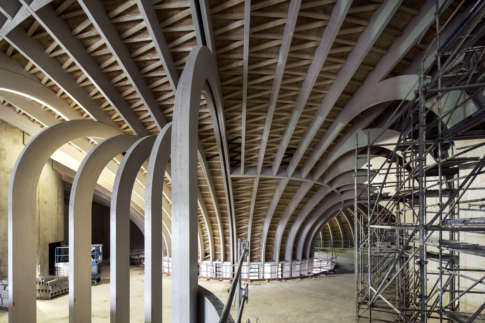 XTU's French Wine Civilizations Museum Set to Open in 2016, Wooden Structure. Image Courtesy of XTU Architects
