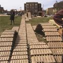 Construction of the University of Wisconsin Milwaukee's faBRICK Pavilion. Image © Courtesy of University of Wisconsin-Milwaukee School of Architecture