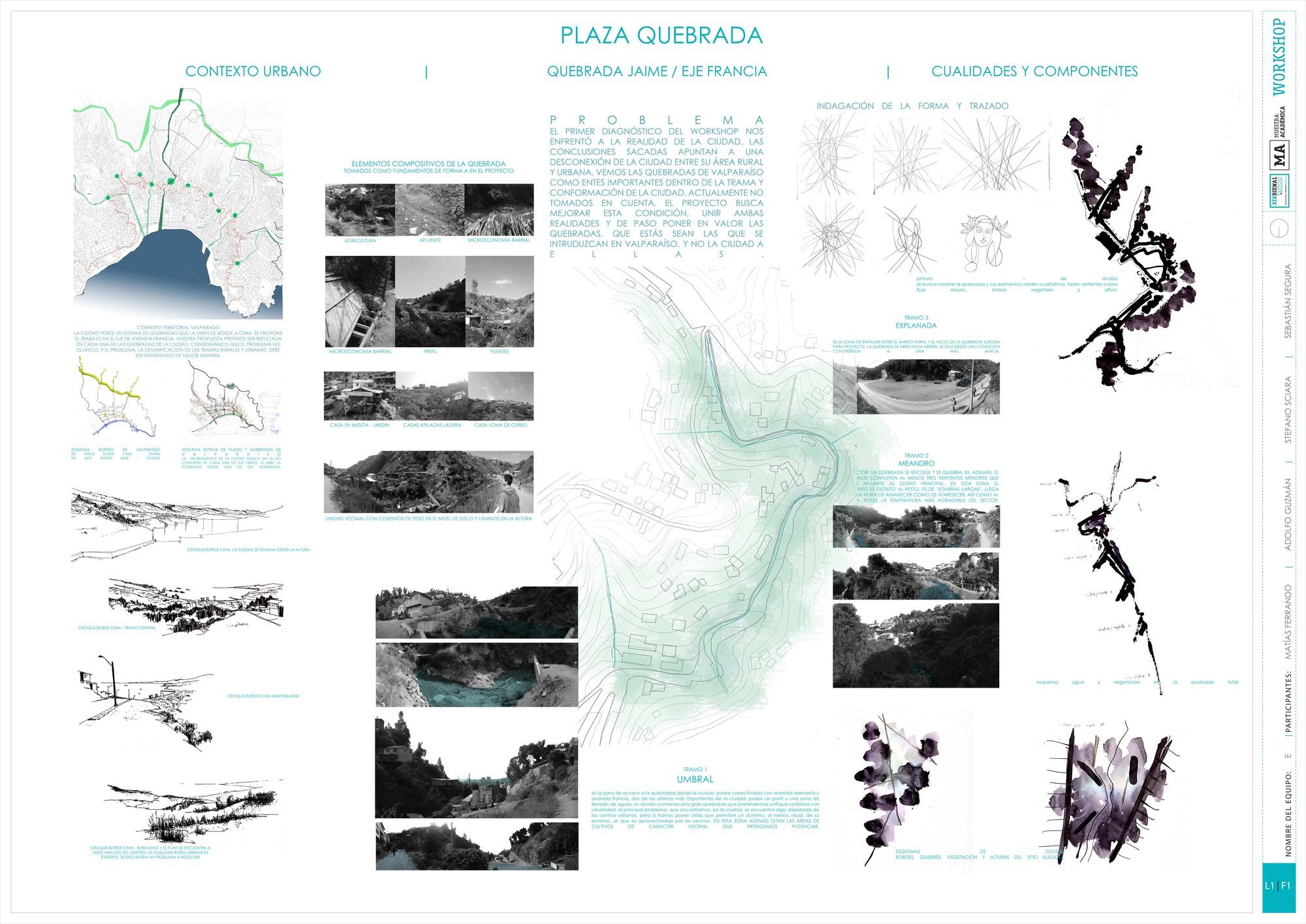 Primer Lugar: Lámina #01. Image Cortesia de Equipo XIX Bienal