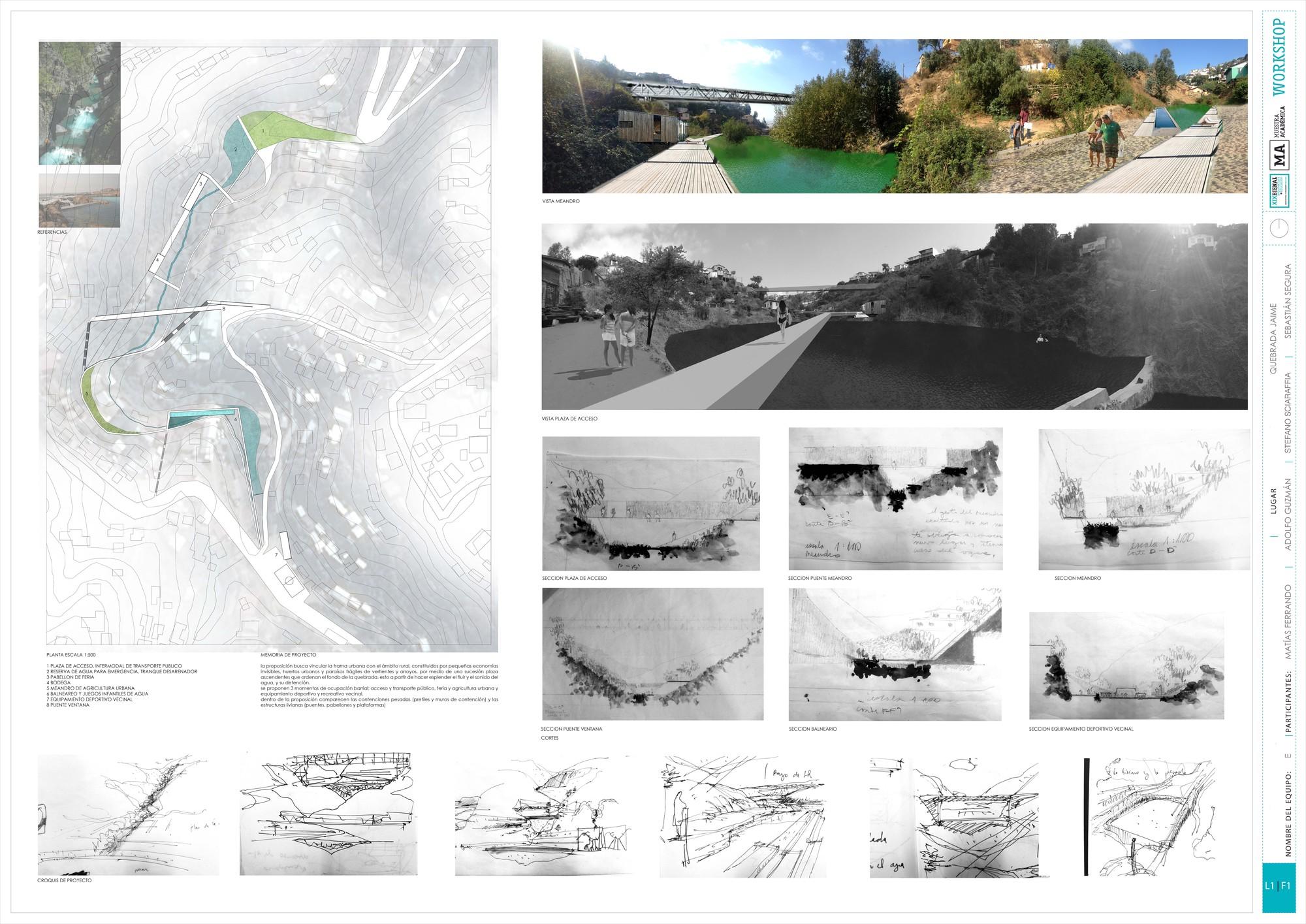 Primer Lugar: Lámina #02. Image Cortesia de Equipo XIX Bienal