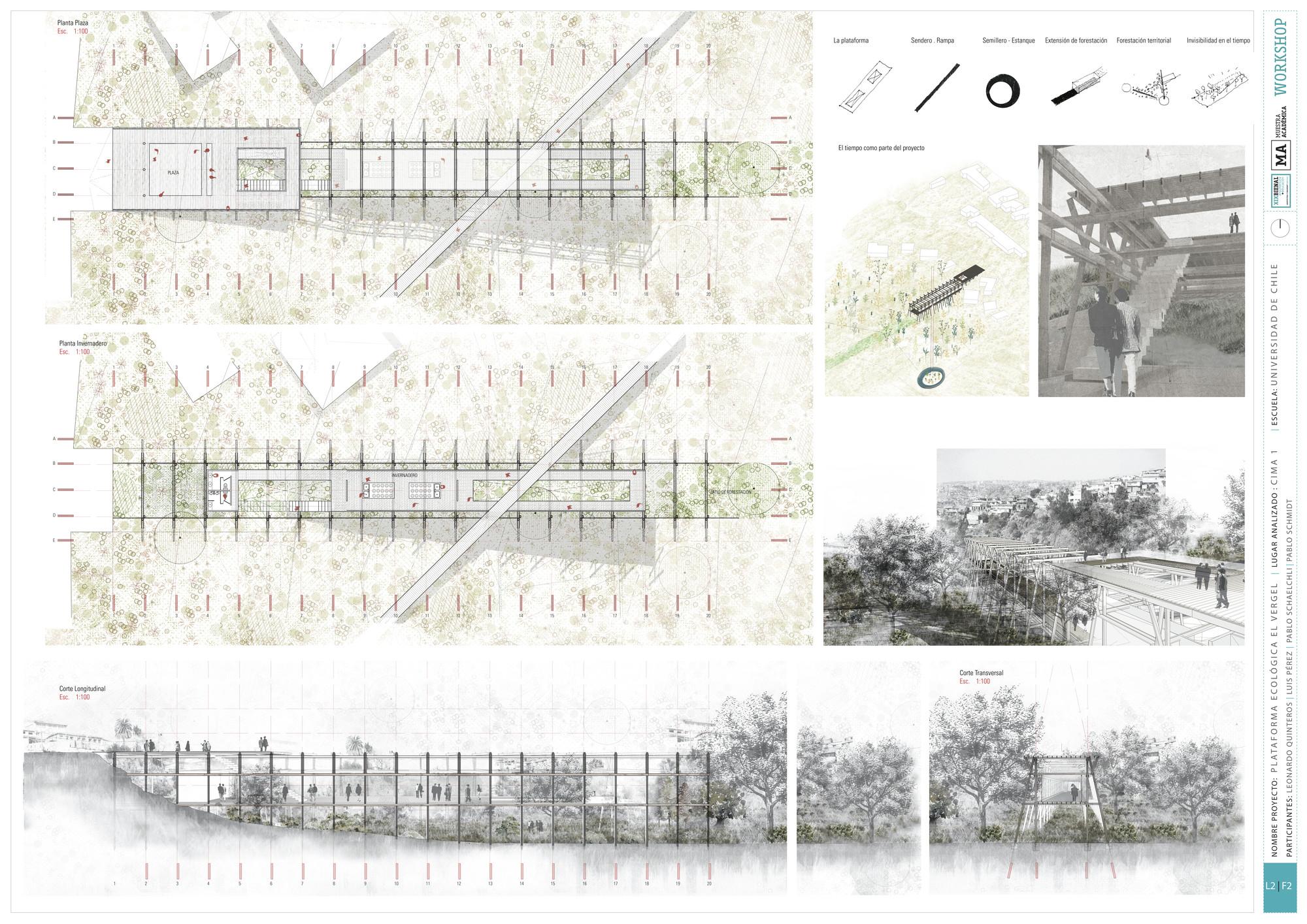 Segundo Lugar UCH: Lámina #02. Image Cortesia de Equipo XIX Bienal