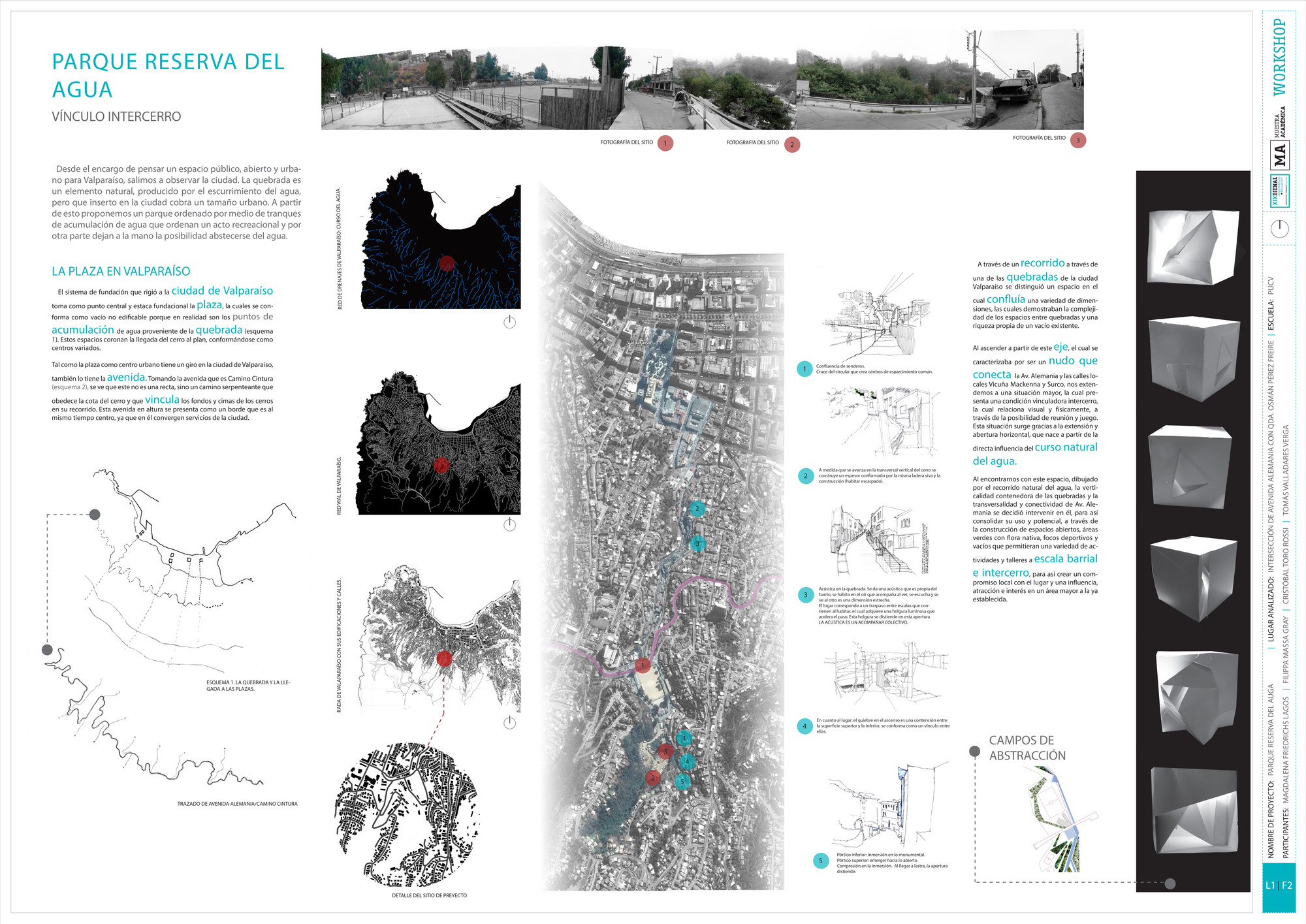 Premio Metodología PUCV: Lámina #01. Image Cortesia de Equipo XIX Bienal