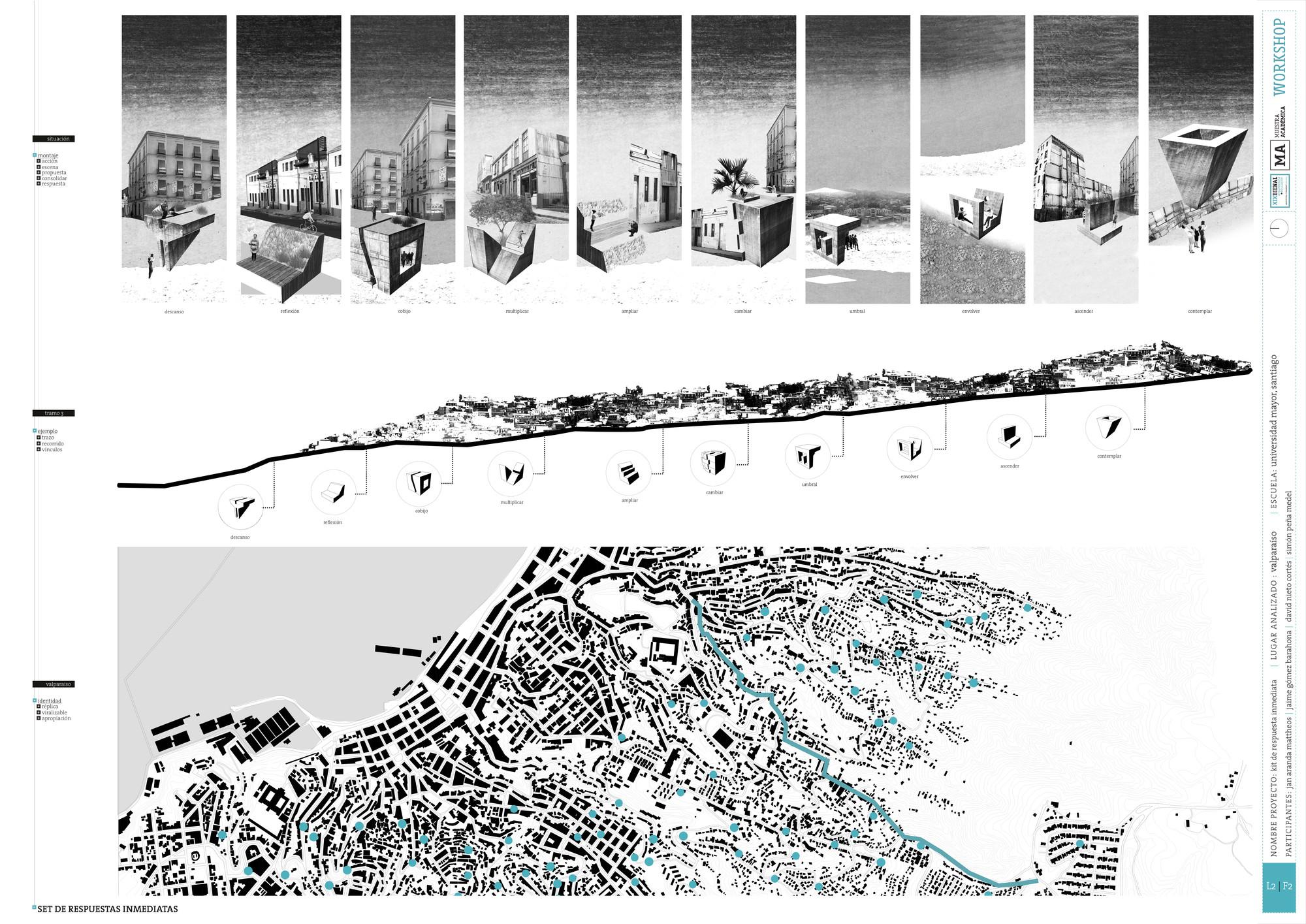 Premio Metodología UMayor Santiago: Lámina #02. Image Cortesia de Equipo XIX Bienal