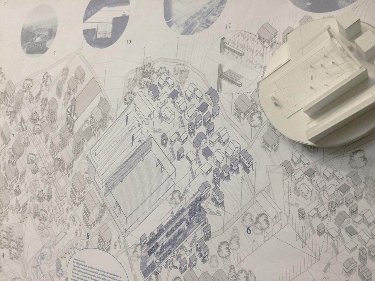 Premio Presentación USS: Lámina y maqueta. Image Cortesia de Equipo XIX Bienal
