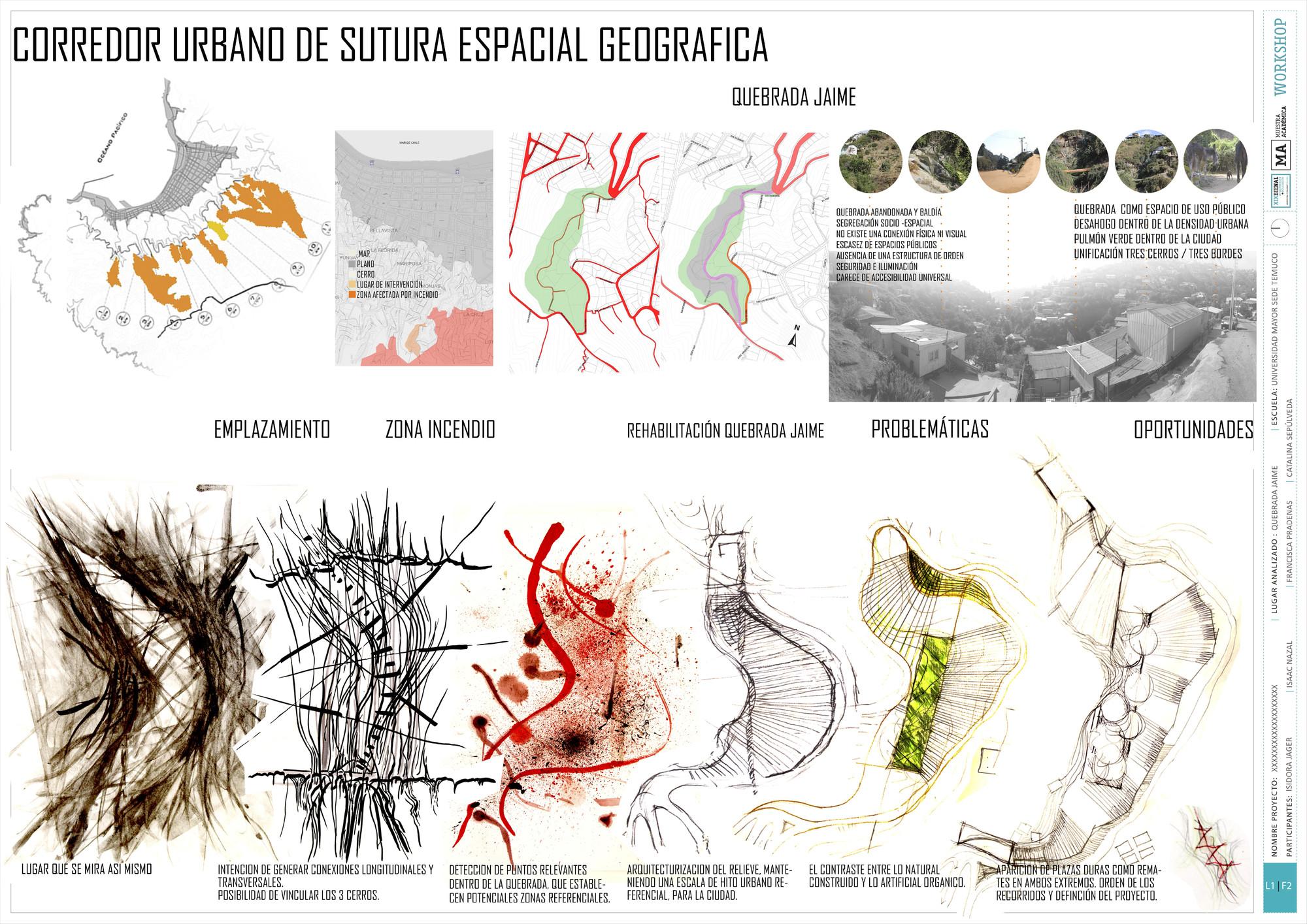 Premio Presentación UMayor Temuco: Lámina #02. Image Cortesia de Equipo XIX Bienal