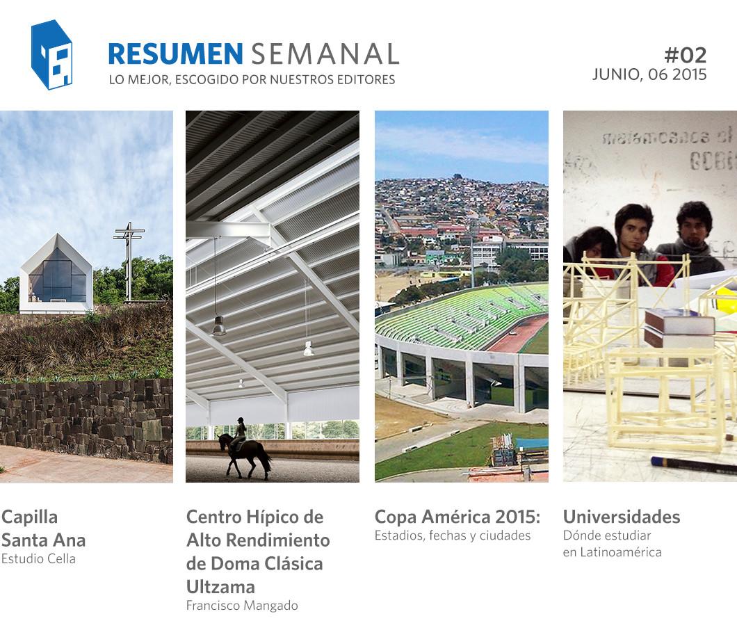 Resumen Semanal: Copa América, las mejores universidades para estudiar arquitectura y un vínculo entre Calatrava y Disney